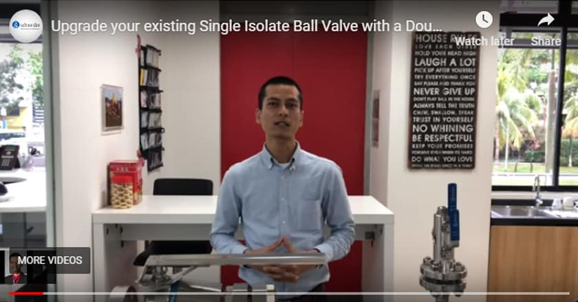 Upgrade your existing Single Isolate Ball Valve with a Double Block & Bleed Valve DBB.