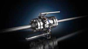 DBB - 3D image of a DBB valve with 2 piece design - body.