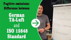 "Thumbnail for the YouTube video ""Fugitive emissions: Difference between TA-Luft and ISO 15848 Standard"""